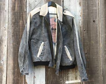 Beautiful 90s Denim Australian Jacket | 90s Australia Jacket | Black Denim Jacket | Acid Wash Jacket | Acid Wash Denim Jacket | Australia
