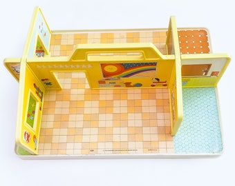1978 Fisher Price Play Nursery School | 70s Preschool 929 Family Fisher Price Toys | Fisher Price Preschool Play Room | FP Collectibles