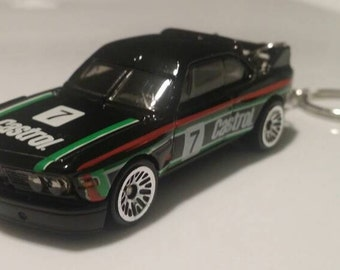 1973 Black BMW 3.0 CSL Race Car car Keychain gift