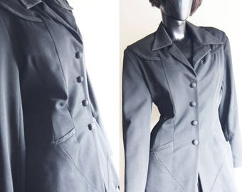 Vintage 80s Black fitted D'Mill Blazer by Debe Mill Size  Medium