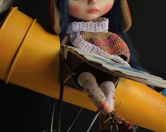 Custom Blythe Dolls For Sale by Ooak Custom Blythe Doll: Amelia the aviator