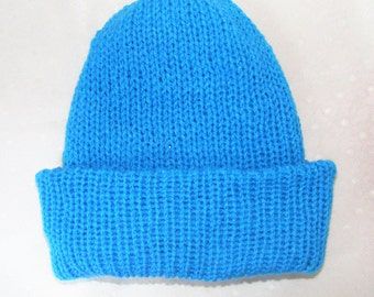 Hawaiian ocean, Knitted hat, Woolen hat, knitted, Wool hat, winter hat, Beanie hat, hand knitted traditional, Ready to ship, Birthday gift