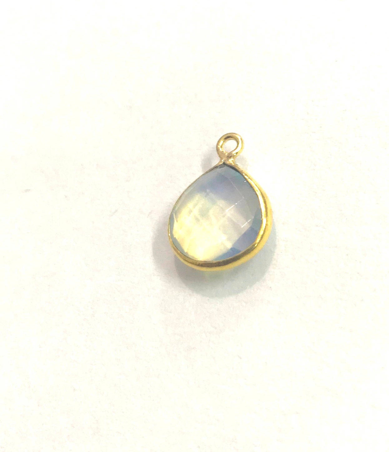 5 Pcs Clear Quartz Pendent Gold Plated Heart Shape Pendent ...