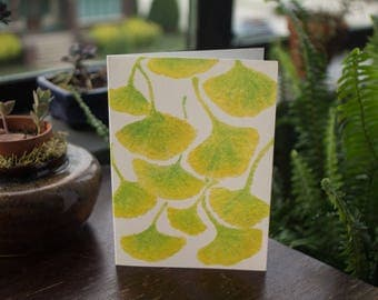 3-set Watercolor Ginkgo Greeting Cards