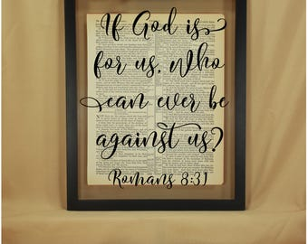 Romans, Romans 8, Romans 8 31, Romans Scripture, Romans Verse, If God is For Us, Romans Sign, Verse Signs, Scripture Signs, Verse Wall Art