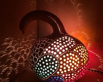 oriental lighting. small bird rustic style authentic turkish gourd lamp colorful night light soft oriental lighting d
