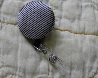 Silk Pinstripe Badge Reel, ID Holder