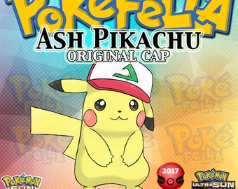 Pikachu | Ash Original Cap 2017 Japanese Event, OT: サトシ | Pokémon I Choose You - Tie In-Distribution | Pokemon Sun/Moon