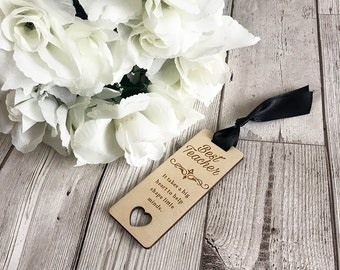 Best Teacher Bookmark - Teacher Gift - Gift For Teacher - Wooden Gift