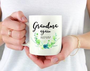 Grandma Again Mug, Grandma Again Gift, Pregnancy Reveal To Grandparents, Pregnancy Announcement, Grandparent Again Mug, Grandma Baby Reveal