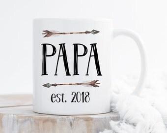 Papa Mug,Papa Est Mug,Papa Established Mug,Grandpa Mug,First Time Grandparent,Pregnancy Announcement Grandpa,First Time Grandpa Gift,Papa