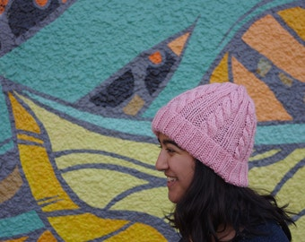 Ready to Ship, Spruce Cable Beanie, Cable Beanie, Knit Beanie, Knit Toque, Women's Knit Toque, Cable Knit Toque, Fall Accessory, Knit Hat