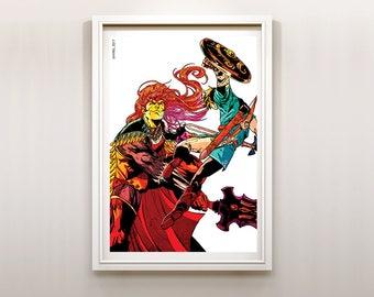 The Legend of Zelda Link VS Ganondorf Art Print Poster