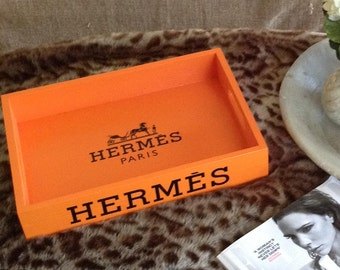 Hermes Tray - Classic Orange
