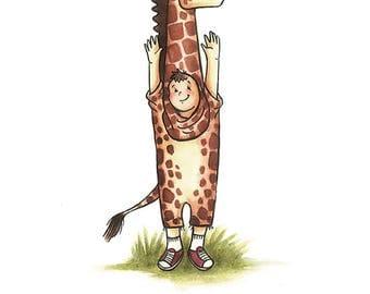 Geoff the Giraffe greeting card