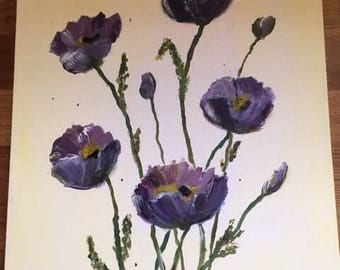 "Painting ""Blue poppy"""