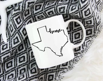 Texas Home State - Coffee Mug