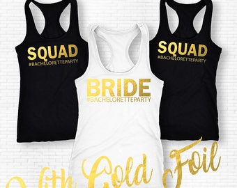 Bride Squad Bachelorette Tanks,Bridal Party Shirts, Bridesmaid Gift, Bridesmaid Tank Top, Bridal Shirts,Bachelorette Shirts, Bridesmaid Tank