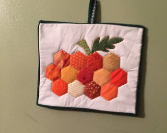 Pumpkins Pot Holder, Handmade, One of a kind, Great gifts for friends, birthdays, shower gifts, wedding gifts, house warmings.