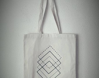 cotton tote bag geometric print