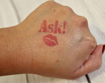 ASK! Stencil with Kiss | Kiss Stencil | Lip Stencil | LipSense