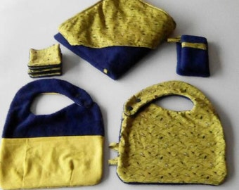 SET birth bath, BIBS and mini CAPE gloves