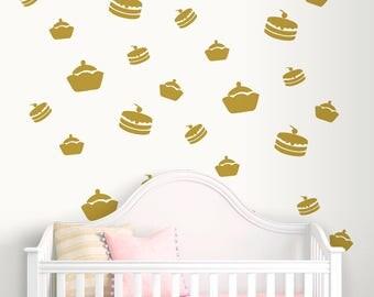 Nursery Wall Decals-Cakes Wall Decal-Nursery Wall Stickers-Dorm decor-Kids room decals-Vinyl wall decals-Cakes wall stickers