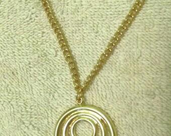 Gold Circles Pendant