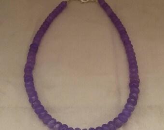 Purple Jade Bead Necklace