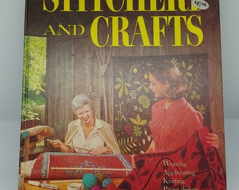 Vintage Retro Stitchery Craft Book Better Homes & Gardens Retro Fab DIY How To Embroidery Knitting Sewing Needlework Kids Crafts Man Stuff