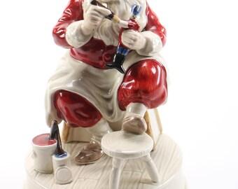 Vintage Santa Claus Music Box