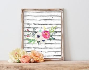 Floral Wall Art, Floral Print, Watercolor Printables, Instant Download Art, Wall Art Prints, Art Printables, Modern Art, Top Selling Items,