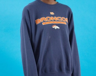 Game Day, Logo, Broncos, Denver, 90s Vintage, Broncos Football, Sweatshirt, Super Bowl, Season, NFL, Navy Blue, Sunday Football, 90s, Orange