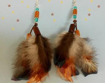 """Earrings feathers """"Carnival"""""""