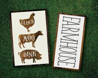 Farmhouse SVG Bundle, Modern Farmhouse, Farmhouse Wall Print, Animal, Printable, Cuttable, SVG, Sticker, Digital File, DXF, Cut File, Vector