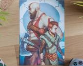 God of War art print, God...