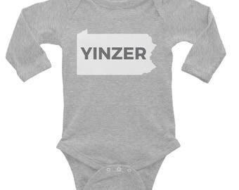 Pittsburgh Onesie | Yinzer Gifts | Steelers Gifts | Pittsburgh Baby | Pittsburgh Baby Gifts | Onesie Steelers | Yinz | Yinzer | Baby Shower
