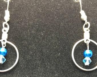 Blue Crystal Earring set