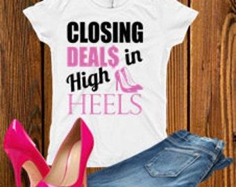 Closing deals in high heel