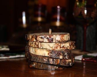 Rustic Log sous-verres de Beartooth Mountains Montana