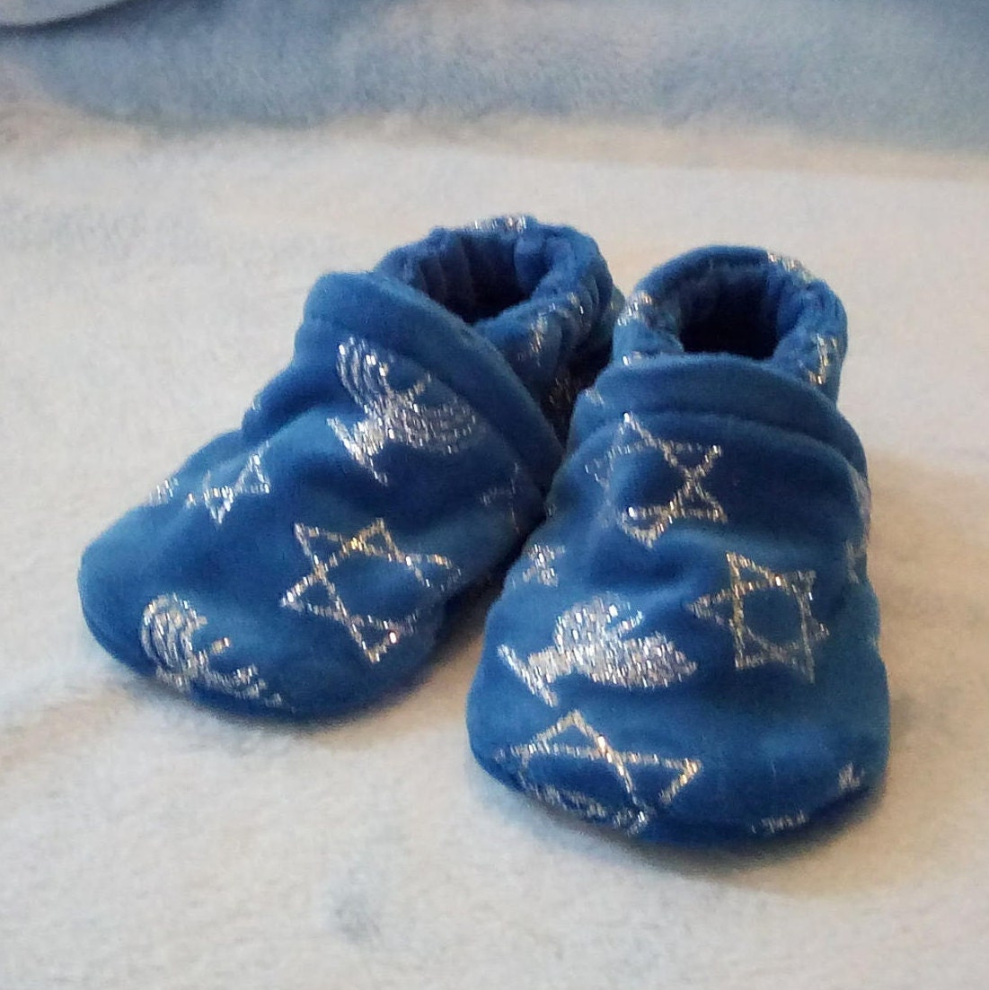 Hanukkah: Soft Sole Baby Shoes 3-6M