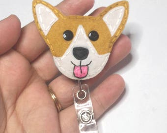 Corgi Badge Reel, Welsh Corgi Badge Reel,Dog,Name ID Holder,Nursing Badge Reel,Badge Reel,Pembroke Welsh Corgi Badge reel