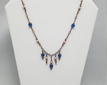 Blue Dew Drop Necklace