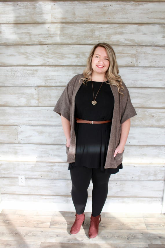 Brown/Gold Cardigan Sweater