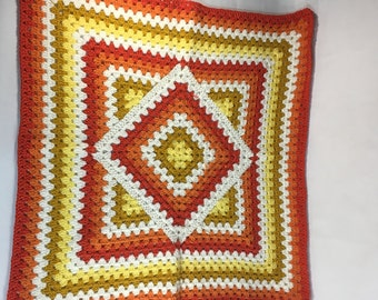 Tangerine Square in a Square Blanket