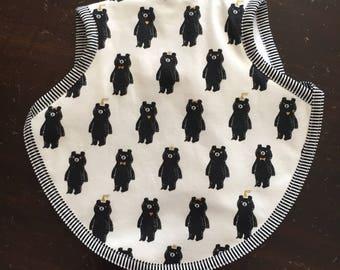 Bapron, baby bib, boy bib, girl bib, tie bib, waterproof bib, Cotton and Steel fabric, 6-18 months, toddler bib, bibs