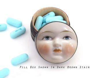 Luna Pill Box - Non Toxic Medicine Storage, Small Jewelry Box, Plugs, Ring Box, Salt Cellar - Beach Sand Box - Inspirational Gift Box