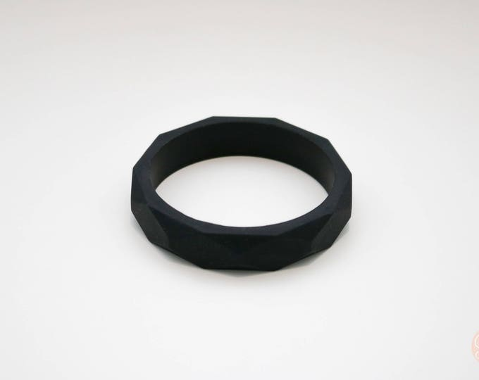 Smokey Black Silicone Bangle.