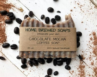 Vegan Coffee Soap, Homemade Soap, Coffee Soap, Dry Skin Soap, Natural Soap, Coffee Lover Gift, Soap Coffee, Chocolate Soap Body, Coffee Soap