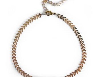 Chalcedony Choker, Gemstone Choker, Boho Choker, Chevron Delicate Necklace, Modern Choker Necklace, Modern Choker Necklace, Gifts for her